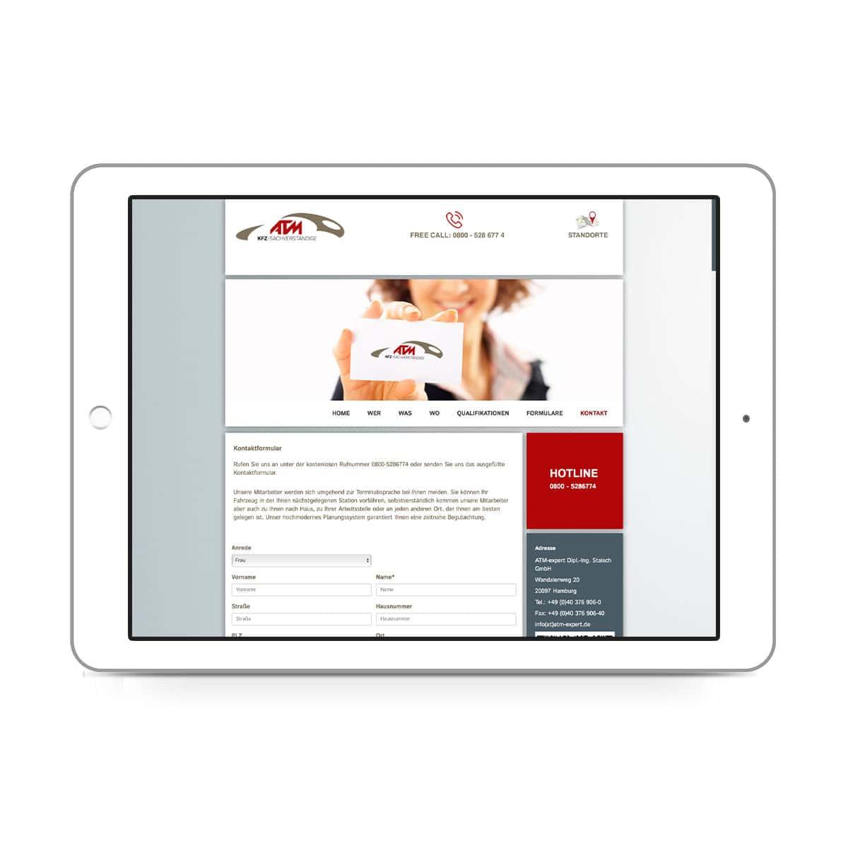 ATM-expert Dipl.-Ing. Staisch GmbH - Kontaktformular